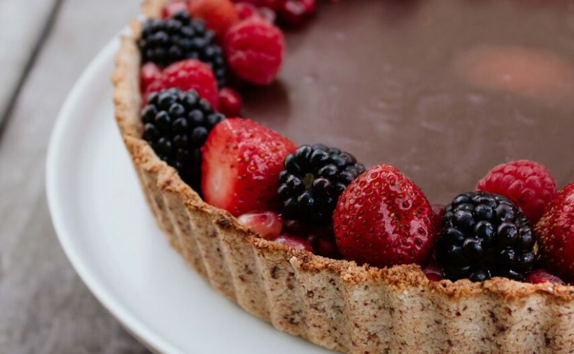Vegan Dark Chocolate Tart