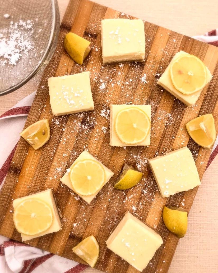 Vegan Baked LemonSquares